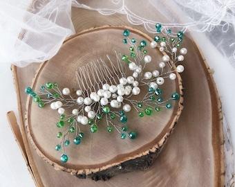 Pearl Hair Comb, Bridal Back Comb, Hair Accessory, Bridal Headpiece