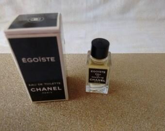 Vintage Chanel Egoiste Miniature Eau de Toilette