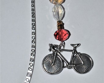 Pedal Bicycle Bead Bookmark in English Pewter and Gift Boxed, bike, sport