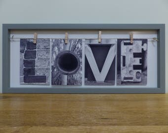 "Alphabet Letter Art ""LOVE"" by Picapic"