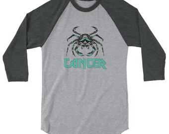 Z12 Cancer 3/4 sleeve raglan shirt