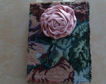 Junk Journal, JANE AUSTEN, Fabric cover, Vintage and Shabby Chic