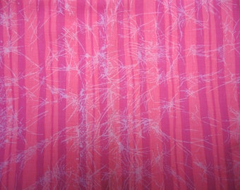 Cotton Quilting Fabric - Pink Stripe With Crackle - 2 yards