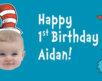 Cat in The Hat Birthday Banner