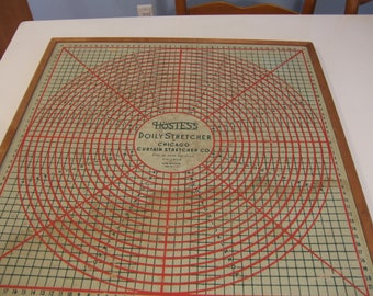 "1940's ""Doily Stretcher"" for blocking, sold by Montgomery Ward"