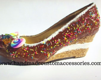Candy cake theme wedge shoes - wedding-party shoes