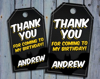 Lego Batman Birthday Thank You Tags, Lego Batman Favor Tag, Lego Batman Movie Printable Digital Labels, Goody Bag Tags, Hang Label Tags