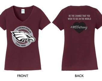 Stoneman Douglas MSDstrong Ladies V-Neck Shirt