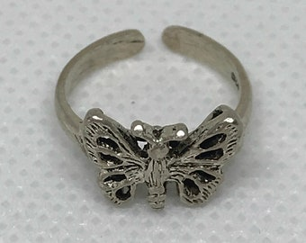 Sterling Silver 925 Butterfly Toe Ring