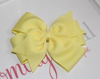 4 inch yellow pinwheel bow