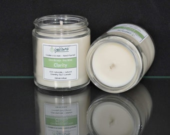 Bio-Soy-Candle™ scented to 'Clarity', handmade