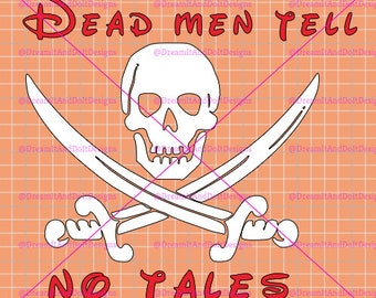 Disney Car Decal - Pirates of the Caribbean - Dead men tell no tales