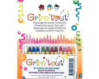box of 12 Grim' all - new makeup pencils