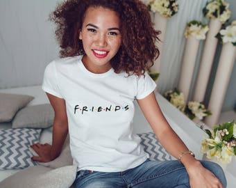 Friends TV Show T-Shirt Womens White Tee Friends Series Tshirt Tee T Shirt Tops Friends TV Show Gift Quotes Friends Movie White Women Shirt