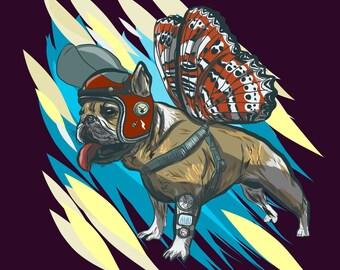 Custom Sci-fi Pet Illustration (FULL BODY)