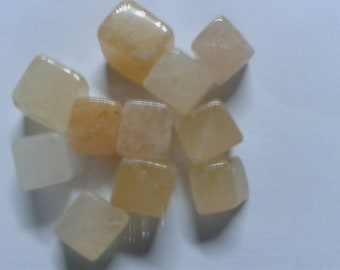 10 calcite gemstone cubes 5-6 mm diagonal drilled chain-making crafts