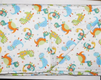 """42"""" by 42"""" Homemade Snuggle Flannel Reversible Baby Blanket"""