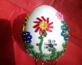 Easter Egg One Of A Kind Beaded Collectible