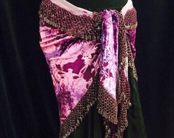 Fabulous Violet Vintage Egyptian Tribal ATS Silk Beaded Belt