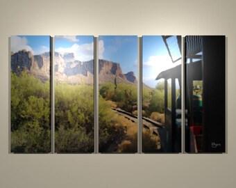 Goldfield Mine Train Five-panel Print