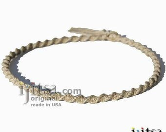 Natural Hemp Twisted Surfer Style Choker Necklace