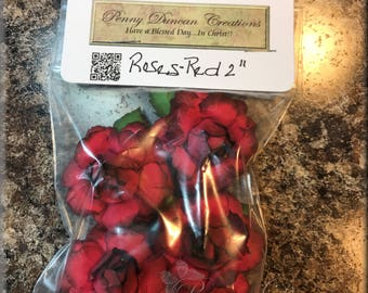 "Handmade Paper Roses Red 2"""