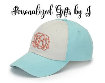 Baseball Cap Monogrammed Hat, Bridesmaid Gift, Groomsman Gift, Personalized, Monogrammed, Embroidered Game Day hat