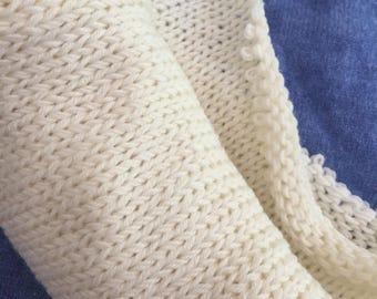 SOCK Undyed Sock Blank, Superwash Merino Nylon Undyed Sock Yarn Blank, Double Strand Knit Sock Yarn Blank Double Knit Pre Knit Sock Canvas