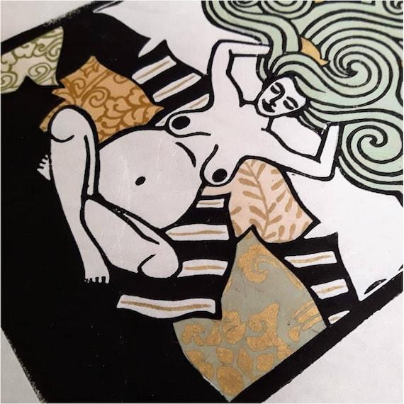 Oceania - Linoleum Print