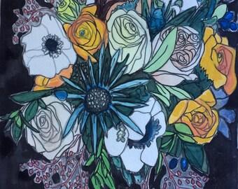 Original watercolor painting 19/100