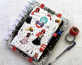 Bullet journal accessories - happy planner cover - London Girls - life planner cover - planner accessories bag - planner pouch - cute girls