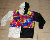 Nike Elite Bright Abstract Geometric Windbreaker Jacket Size 10-12 / Medium Vintage 1990s