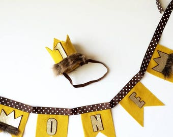 Where the Wild Things Are Crown, Wild Things Bunting, Wild Things, Wild Things Birthday, Wild Things Party Supplies