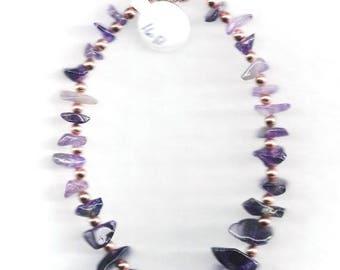 ON SALE Amethyst & Copper Bracelet,Amethyst Bracelet,Copper Beaded Bracelet