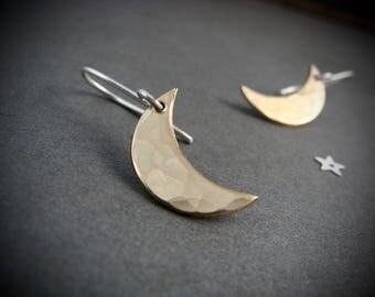moonshine ... mixed metal earrings
