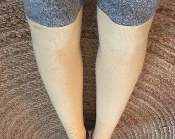 Eco Leg Warmers/ Cashmere Leg Warmers/ Recycled Leg Warmers/Thigh Highs