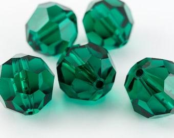 Swarovski 5000 Emerald Faceted Bead