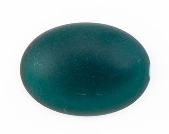 18mm x 25mm Frosted Emerald Oval Cabochon #UP709