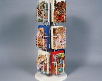 Options for all Vertical Greeting Card Racks are pocket denominations of: 12,24, 24,36,48,60, 72,96 or 120 All White all Vertical Pockets