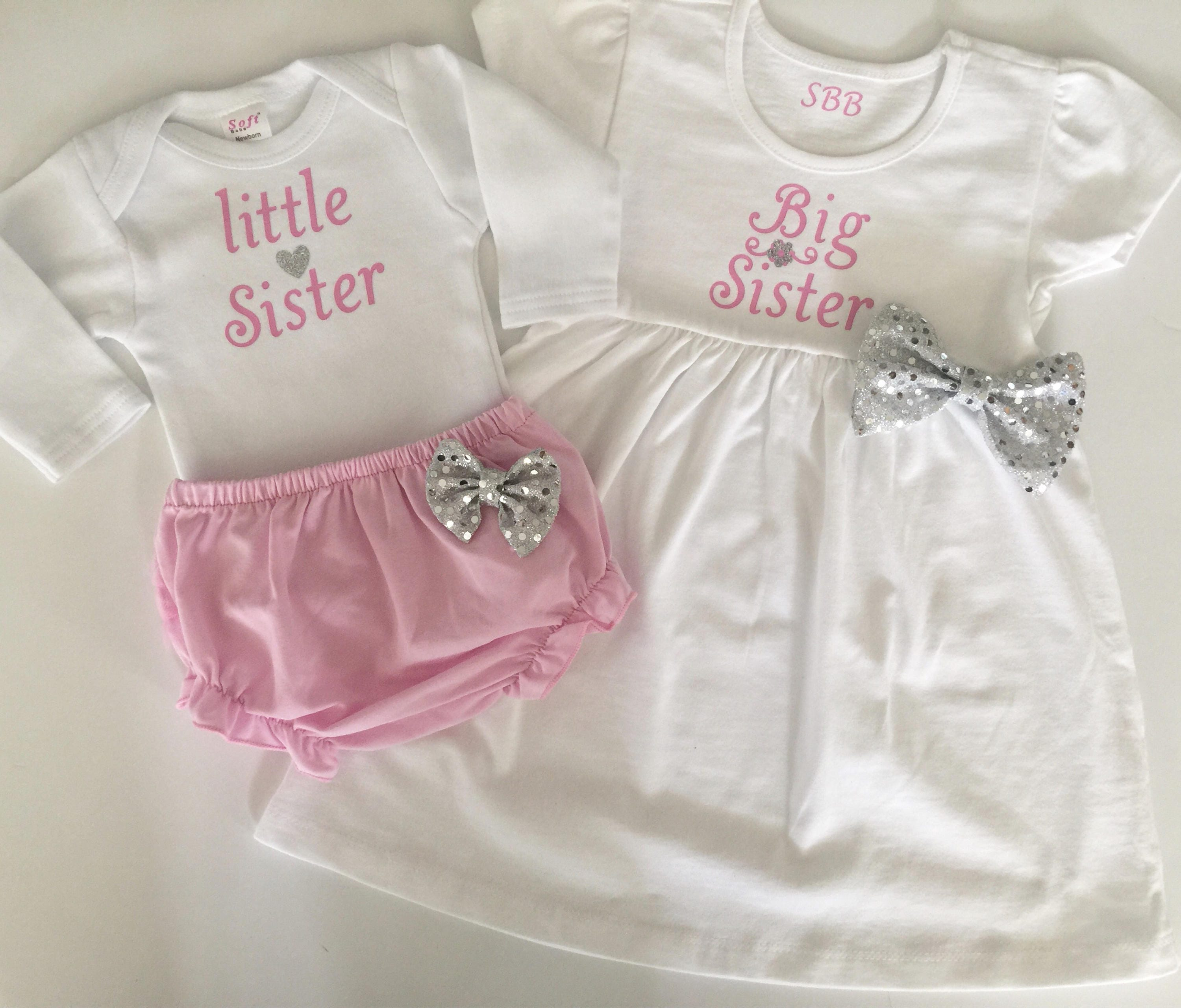 Big Sister Little Sister OUTFITS Shabby chic Pink and white