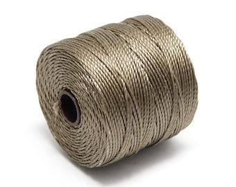 S-Lon Bead Cord - Superlon Bead Cord - Knotting Cord - Macrame Cord -  77 Yard Spool - TEX210 - Sand (B258)