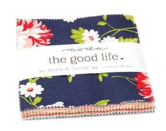 The Good Life Charm Pack by Bonnie and Camille for Moda Fabrics,  42 5 inch squares