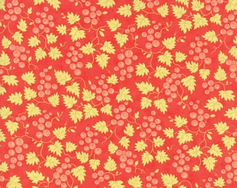 Hazel and Plum - Berries in Pomegranate Red: sku 20297-11 cotton quilting fabric by Fig Tree and Co. for Moda Fabrics