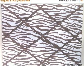 July 4th Sale Brown Zebra Memory Board French Memo Board, Fabric Board, Ribbon Board, Photo Board, Bulletin Board, Bedroom Decor