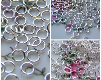 Silver Filled Jump Rings 22 Gauge 1/10 Fill Three Sizes 100 Rings