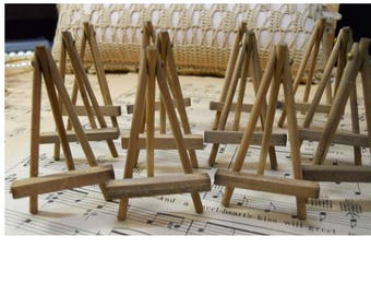 """Vintage Small Handmade 2-1/2"""" Wooden Easels by the Dozen"""