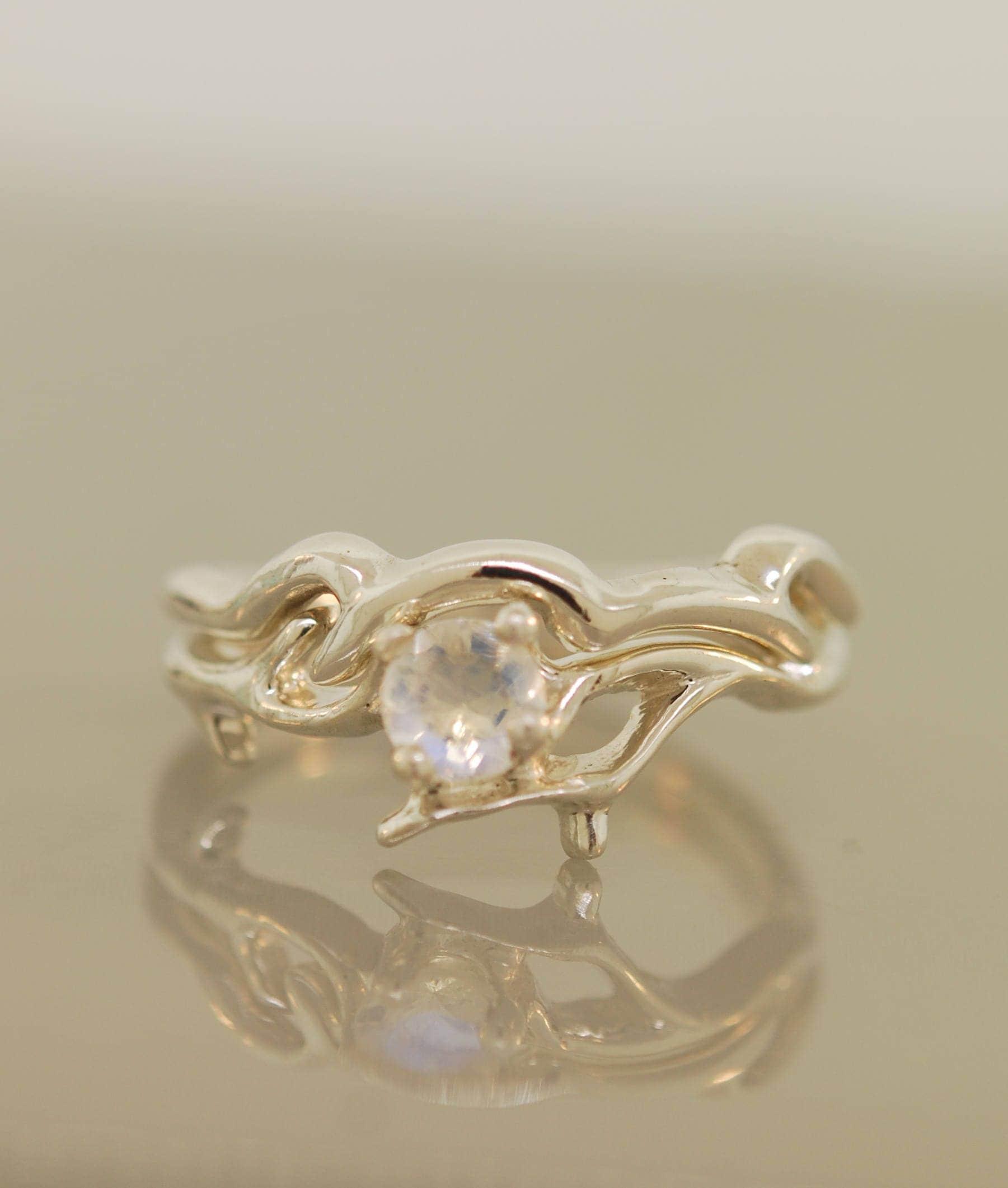 An Elegant Twig engagement ring alternative engagement ring