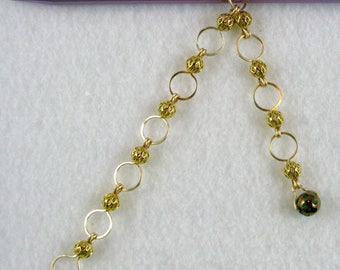 Hammered Gold Chain Style 10 Row Counter - US 10 -  Item No. 1030