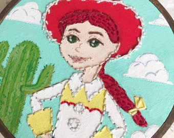 Embroidered Art Hoop - Disney Toy Story Jessie