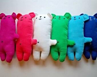 Corduroy Bear Plushie - Plush - Stuffed Animal - Teddy Bear - Washable - Assorted Colors - Toddler - Classic - Lovey - Soft - Sweet
